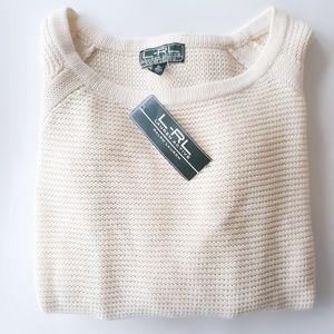 NWT Ralph Lauren Active Sweater Modern Cream XL
